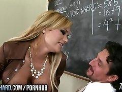 Hot milf humps teacher