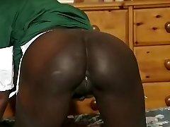 Hottest amateur Black and Ebony, Hefty Milk Cans sex video