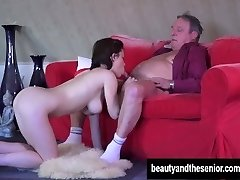 Youthfull maid Veronica gets fucked by older Harry