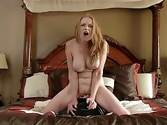 Fuckfest machine makes bigtit mom spunk so hard