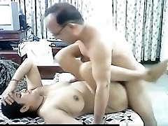 Mature arab duo makes a sextape in missionary position with internal cumshot