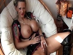 Tattooed German Nymph with immense Tits gets fucked