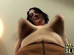 Tattooed Bbw fat ass milf bi-atch gets her meat holes stuffed