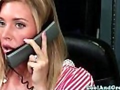 Nurse Samantha Saint gets glue sample on face