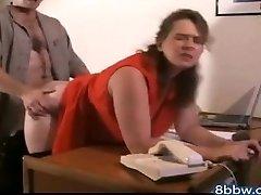 German BBW Anal Internal Cumshot