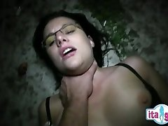 Italian mommy and son creampie eating