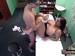 Gigantic tits pornstar hardcore with cumshot