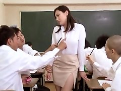 Asian lady at school