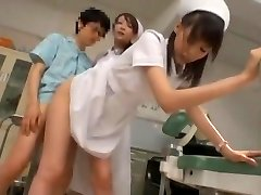 Exotic Asian model Yuria Shima, Azusa Ito in Greatest Nurse JAV scene