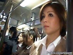 Japanese babe has public sex jav