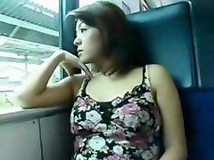 japanese tear up in the train