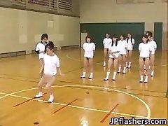 Super hot Japanese women flashing