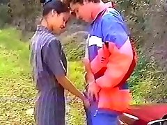 French asian assfuck in the forest