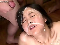 Japanese nubile Kotomi uncensored bukkake