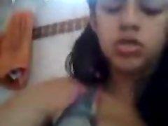 Indian Chick masturbate so rock-hard