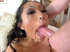 Chinese slut deepthroat to facial cumshot