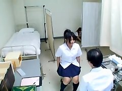 Lovely Jap teen has her medical exam and gets uncovered