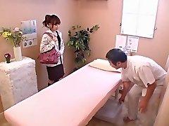 Cute honey gets banged hard in voyeur Japanese sex video