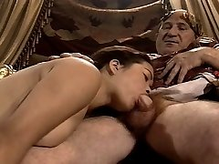 Asian Young Damsel Casting made by Older & Fat Grandpa