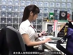 Sweet asian office doll blackmailed