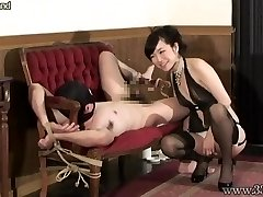 Asian Femdom Prostate Massage Bound Victim