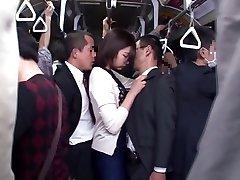 Yuu Shinoda, Yuka Kojima, ASUKA Two, Yuna Shiratori in Frustrated Housewife on the Bus 1 part 4