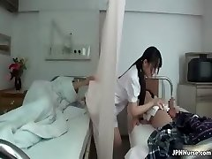 Asian nurse loves fellating two part3