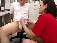 Asian Nylon Panty Handjob Cum