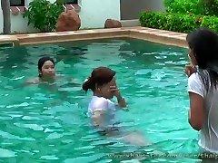 sumptuous thai gals in pool