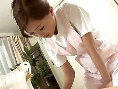 Glorious Nurse milks her patient's cock as a treatment