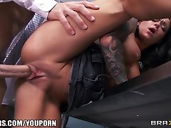Incredibly MOLTEN teacher's assistant Crista Moore pulverizes her prof