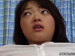 Lovely Rie Mizuno toy insertion act