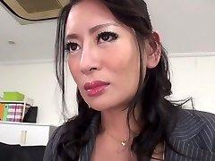 Hottest Japanese girl Rei Kitajima in Naughty stockings, blowjob JAV pinch