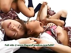 Teen japanese models play with an fuck-a-thon