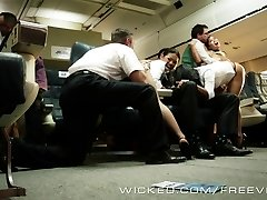 Super-hot Asian orgy on a plane