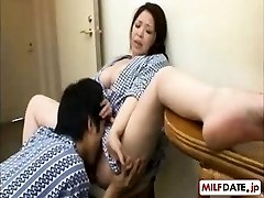 Young son in law enjoys NOT his the mother