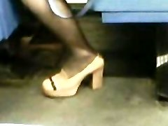 High High-heeled Slippers Stockings Asian Milf