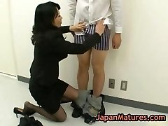 Natsumi kitahara butt licking some man part1