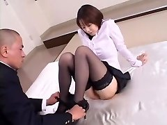 Crazy Japanese girl Misa Nishida in Exotic Cunnilingus, Stockings JAV pinch