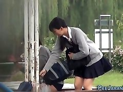 Japanese teen piss park