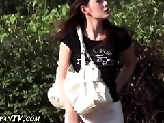 Japanese ho privately urinates