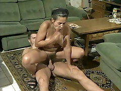 Unknown hairy granny ass fucking