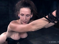 Mature woman Paintoy Emma gets spanked and punished in the dark apartment