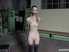 Super skinny nubile gets tied and whipped hardcore