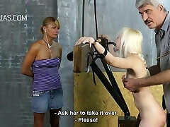 Blonde slave in Domination & Submission action