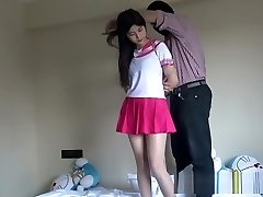 Chinese Schoolgirl Roped Up