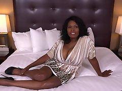 Ebony woman with big tits