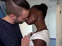 J&M - French adorable ebony fisrt time on camera