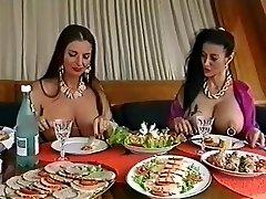 Two huge-chested pierced sluts having fun