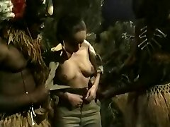 Busty Brown-haired Gets Ravaged By Jungle BBC Monsters
